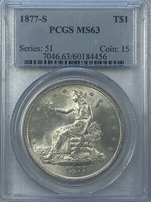 PCGS MS63 1877-S Trade Dollar.! Choice BU.!
