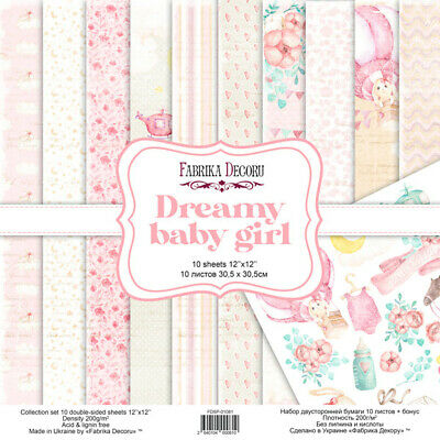 """12/"""" x 12/"""" scrapbooking paperpad cardstock Funny Dots 12 sheets 170gsm"""