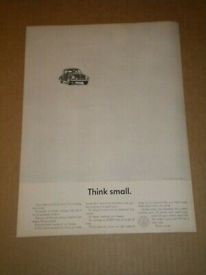 1962 Volkswagen Think Small Ad