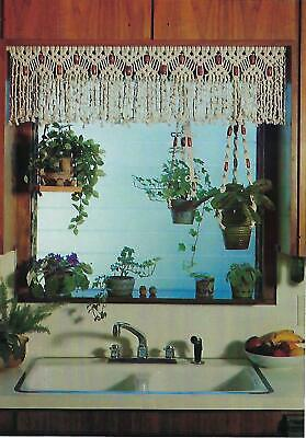 Vtg 1976 Macrame Cafe Curtain Valance Pattern in More macrame Craft Book HP452