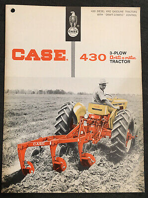 Vintage 1963 BROCHURE J I Case 430 Tractor w/ 3-Plow Draft-O-Matic 15 page sales