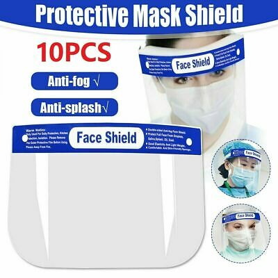 2/6/10 Pack Safety Face Shield Clear Full Cover Tool Mask Anti-fog Eye Helmet