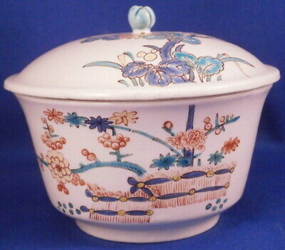 Antique 18thC Chantilly Soft Paste Porcelain Kakiemon Sugar Dish French France