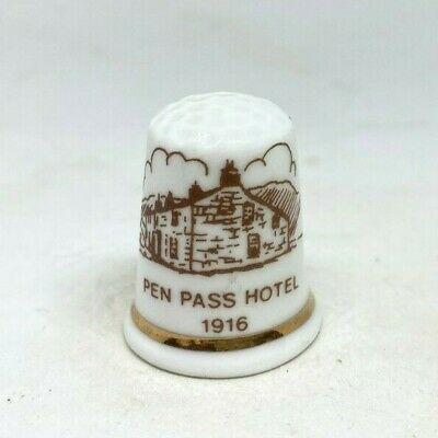 Collectable Thimble - PEN PASS HOTEL 1916 (AA276)