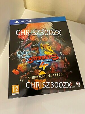 Limited Run Streets of Rage 4 PS4 Playstation 4 Signature Collector's Edition EU