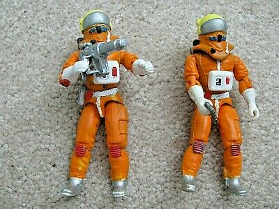 "CUSTOM SPACE 1999 (2) 3.75"" ACTION FIGURES for Mattel Eagle 1 Weapons Helmets"