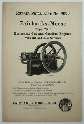 Fairbanks Morse Hit Miss N Engine Farm Equipment Catalog Price List 1916