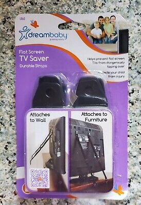 Dreambaby Flat Screen Secure TV Saver Durable Straps #L860 New