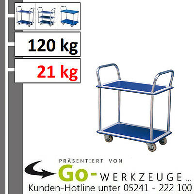 Solid Car Floor, Table Trolley, Load Capacity 120 KG, With 2 Ablage-Ebenen