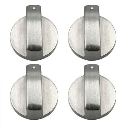 Silver Gas Stove Switch Metal Rotary Cooker Control Knobs Kitchen Tool