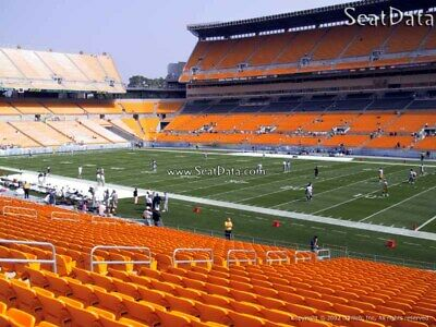 (2) Steelers vs Texans Tickets Lower Level 8th Row Steelers Sidelines!!