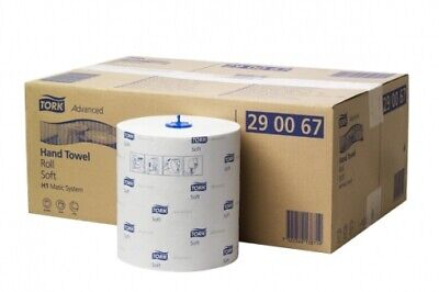 New Tork H1 Matic 290067 Hand Towel Roll Soft 150M Advanced - White Carton (6