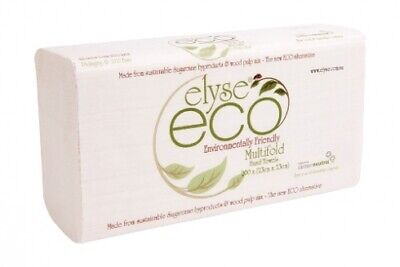 New Elyse Eco 2323 Hand Towel Muiltifold - 23Cm X 23Cm, 40Gsm Carton (16 Packs)