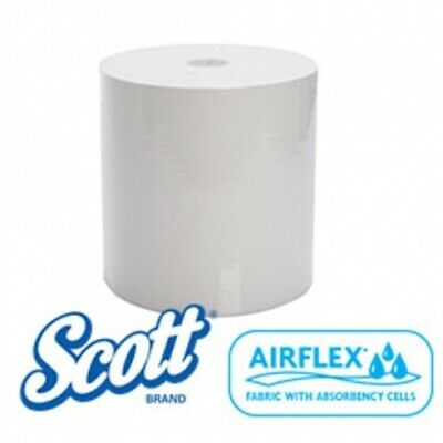 New Kimberly Clark Scott 44199 Roll Towel - White Carton (8 Rolls)
