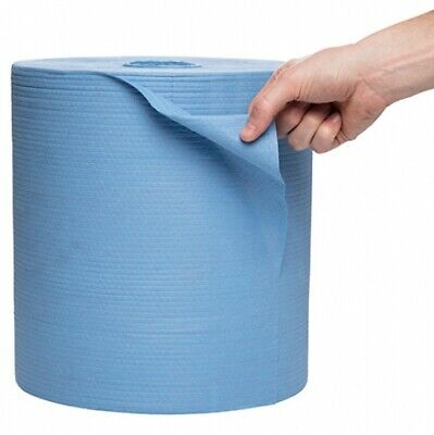 New Kimberly Clark Wypall 41043 Jumbo Roll Wiper X80 Perforated - Blue Roll (475