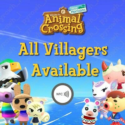 Animal Crossing: New Horizons, Amiibo NFC Stickers - ALL VILLAGERS ARE AVAILABLE