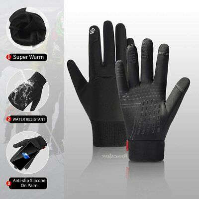 Women's Men's Winter Warm Gloves Touch Screen Windproof Waterproof Outdoor Sport