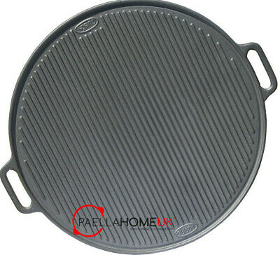 Big Round Traditional Cast Iron Plate , Double Sided Grill 65cm , Fat Free BBQ