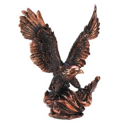 """Eagle in Flight Statue - Made of Polyresin With Bronze Finish - 11.5"""" High"""