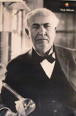 Thomas Edison | Apple | Think Differently - 1997 Advertising Campaign Poster