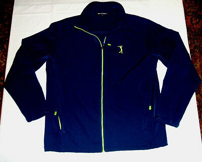 Taco Bell Golf Classic Lined Jacket RARE Large Port Authority Blue & Neon Yellow
