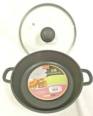 Non Stick Die Cast Induction Cooking Pot Shallow Fish Pot Pan - Ceramic Coated