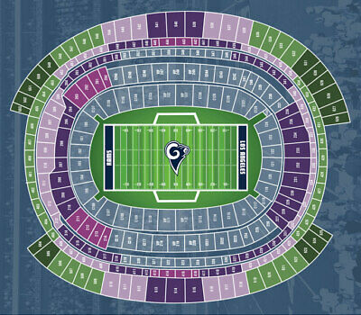 (4) Rams vs Bears Mobile Tickets Front Row Upper Level Aisle Seats!!
