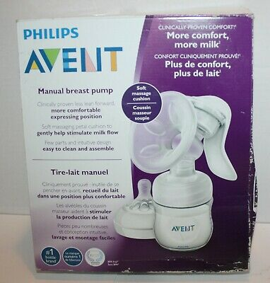 Philips Avent Manual Breast Pump w/Bottle & Nipple