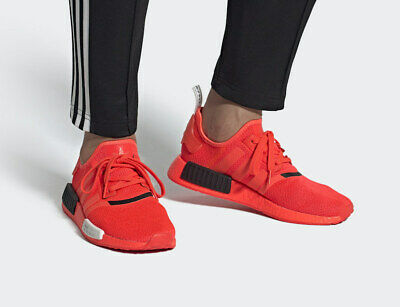Adidas Nmd R1 Casual Shoes Solar Red Black White Ef4267 Men S New