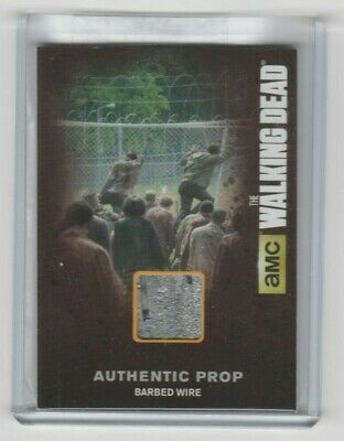 Walking Dead Season 4 Part 1 Authentic Barbed Wire Prop Card  #M11 Sp Rare!