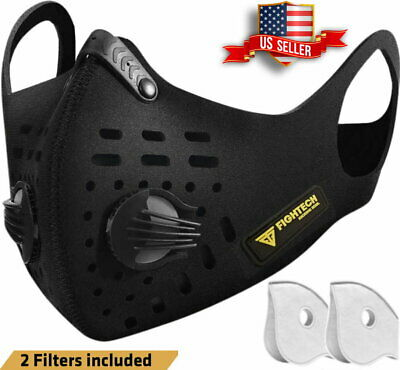 Air Purifying Masks with 2 Filter Cycling Mouth Face Cover by FIGHTECH USA