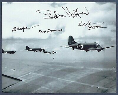 Band Of Brothers Multi Signed Photo Babe Heffron Al Mampre Psa/Dna Autograph
