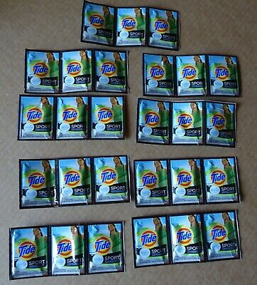 27 Tide Sport w/ Febreze hand wash Travel Sink Packets