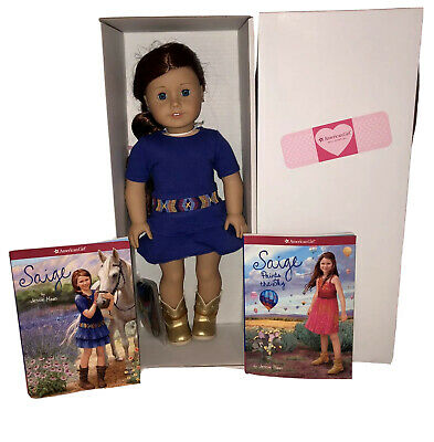 "American Girl Doll SAIGE, Book 18"" AG Girl of the Year 2013 - New"
