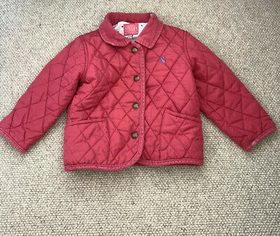 Joules 18-24 Months 1.5-2 Years Girls Jacket Quilted Pink
