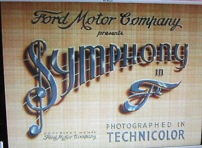 """""""Symphony in F"""".  Color Film transferred to DVD"""