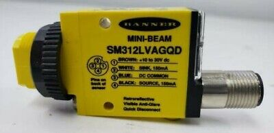 Brand New *Never Used!! Banner  Sm312Lvagqd Mini-Beam Photoelectric Sensor 26913