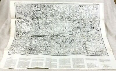 1862 Large Antique Map of Dorking Surrey County Vintage 1969 Reproduction