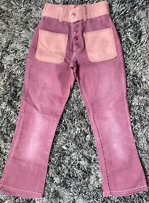 Vintage Petite Child Youth High Waist Jeans 1970s 1960s