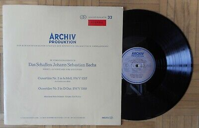 H798 Archiv Red Stereo Richter Bach Overtures 2 & 3  Sapm 198 272