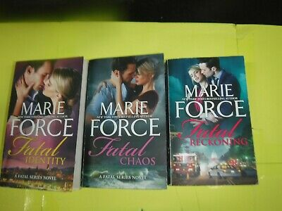 Lot Of 3 Romance Novels By Marie Force  (A Fatal Series ) Paperbacks English