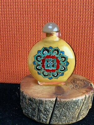 Vtg. Amazing Detailed Chinese Inside Painted Rock Crystal Snuff Bottle ...#2
