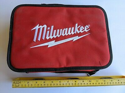 MILWAUKEE M12 Tool Bag / Case With Inside Pocket Drill Impact New Free Shipping