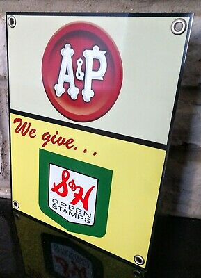 A & P grocery food store S and H Sign