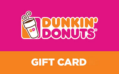 $50 Dunkin Donuts Gift Card (EMAlL)