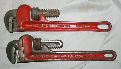 "Pair Of Vintage Sears & Craftsman 10"" Heavy Duty Pipe Wrenches"