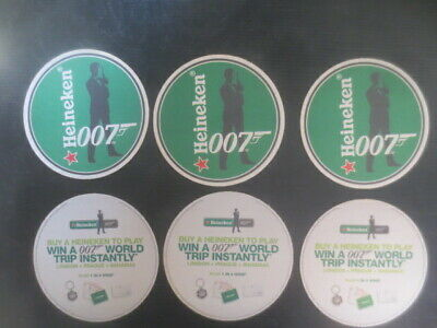 complete set of 6 HEINEKEN Brewery Australian 2003  Issue  BEER COASTERS