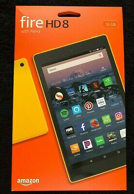 Brand New Amazon Fire Hd 8 Tablet Yellow 16Gb Quad Core 1.30 Ghz>>8Th Generation