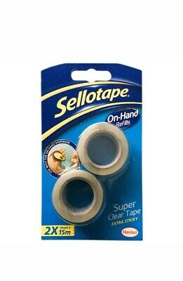 5 x Pack of 2 Sellotape On-Hand Refills Extra Strong Adhesive Tape Clear Sticky