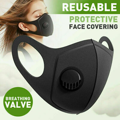 Reusable Protective Black Face Mask / Covering Washable, Reusable & Durable